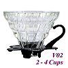 V02 Glass Coffee Dripper - Black (HG5357BK)