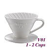 V01 Porcelain Coffee Dripper - White (HG5537W)