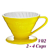 V02 Porcelain Coffee Dripper - Yellow (HG5544Y)